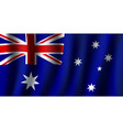 3d flag of australia national symbol vector image vector image