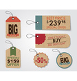 A set of tags in a retro style vector image