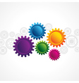 abstract design with copy space in cog wheel vector image vector image