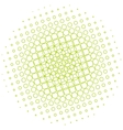 Abstract halftone circle vector image vector image