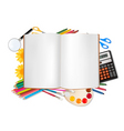 back to school horizontal set with supplies vector image vector image