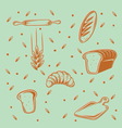 Bakery Pattern vector image vector image