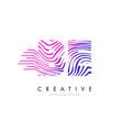 be b e zebra lines letter logo design with vector image