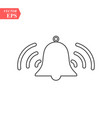 bell outline icon alarm handbell line isolated vector image vector image
