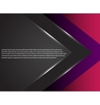 Black and pink corporate tech striped graphic vector image vector image