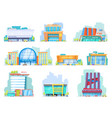 building mall storefront newbuild mall vector image