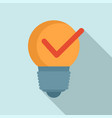 bulb idea mission icon flat style vector image vector image