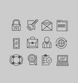 business icons on a gray background vector image vector image