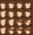 chocolate pattern with sweetmeat in form heart vector image vector image