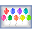 Colorful balloons collection vector image vector image