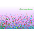 colorful confetti decoration vector image vector image
