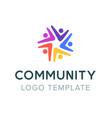 community logo teamwork social logo partnership vector image vector image