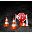 construction repair of roads concept background vector image vector image