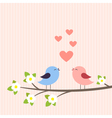 Couple of birds in love vector image vector image