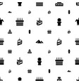 desert icons pattern seamless white background vector image vector image