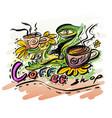 design coffee shop logo vector image vector image