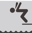 Diving icon vector image vector image