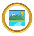 Drawing mountain landscape icon vector image vector image