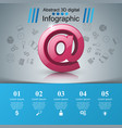email and mail icon abstract 3d infographic vector image vector image