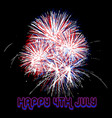 fireworks 4th of july vector image vector image