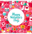 flat valentine day greeting vector image vector image