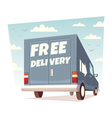 Free delivery vector image vector image