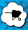 garden wheelbarrow sign vector image