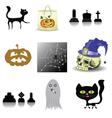 halloween decoration set vector image vector image