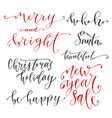 hand drawn lettering new year modern calligraphy vector image vector image