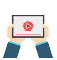 hand hold video player vector image
