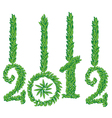 happy new year 2012 greeting card vector image