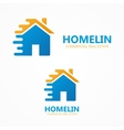 house in motion logo or icon vector image