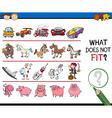 improper picture task for kids vector image vector image
