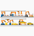 industrial automation robot horizontal banners vector image vector image