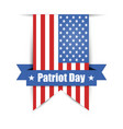 label hanging on the wall to day of patriot vector image vector image