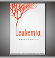 leukemia awareness poster vector image vector image