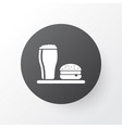 lunch icon symbol premium quality isolated beer vector image vector image