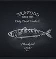 mackerel hand drawn icon vector image vector image