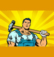 man with a hammer vector image vector image
