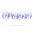 multicolored soap bubbles hung in the air vector image