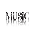 music reflection music note background imag vector image