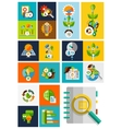 Nature ecology concepts collection vector image