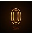 Neon 3D number 0 vector image vector image