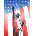 new york and american symbol vector image vector image