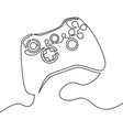 one continuous line joystick outline vector image