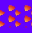 orange hearts love seamless pattern background vector image