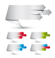 Origami paper style banners vector image