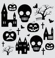 pumpkin halloween set vector image vector image