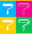 roller sign four styles of icon on vector image vector image