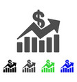 sales bar chart trend flat icon vector image vector image